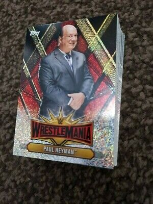 WWE Champions 2019 Topps WrestleMania Champions Foils Full Set £15 LIMITED OFFER