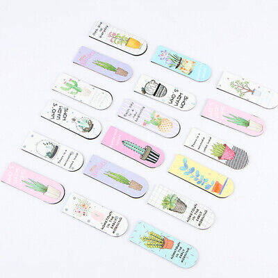 6pcs/set Colourful Cartoon Magnetic Bookmarks Books Marker of Page Stationery
