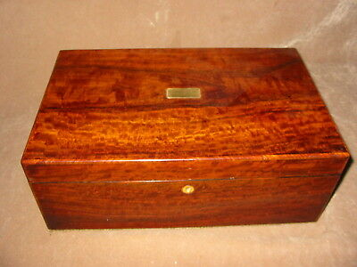 Victorian mahogany  writing box Circa 1875