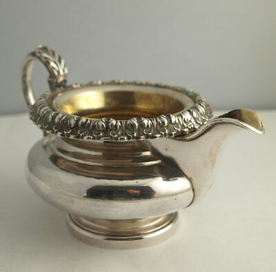 Fine Georgian Solid Silver Milk Jug - 286g - Sheffield 1825