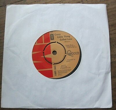 """EX  QUEEN Crazy Little Thing Called Love / We Will Rock you (live)   7"""" single"""