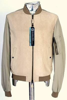 Burberry Brit Python Snakeskin Leather Front Jacket Medium RRP Approx. £2395
