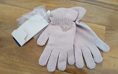 Girls Armani Junior gloves,size S 4yrs, Cashmere blend, BNWT 100% AUTHENTIC