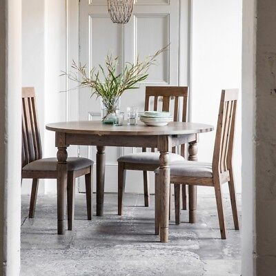 Frank Hudson Gallery Direct Cookham Round Oak Extending Dining Table