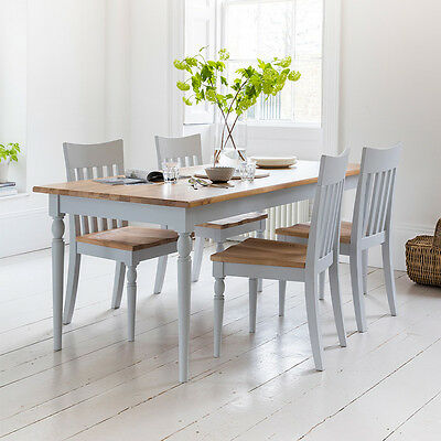 Frank Hudson Gallery Direct Marlow Solid Oak and Painted Dining Table