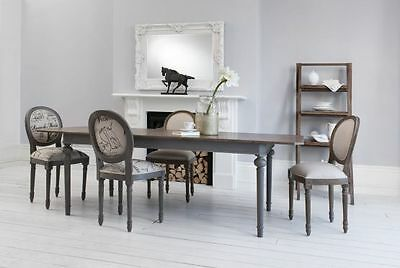 Frank Hudson GALLERY DIRECT MAISON RECTANGLE EXTENDING DINING TABLE DARK GREY