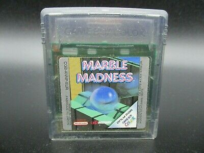 MARBLE MADNESS GBC cartridge GBA cart NINTENDO Game boy GAMEBOY COLOR COLOUR