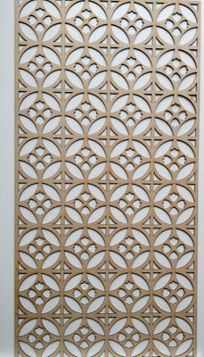 Radiator Cabinet Decorative Screening Perforated 3mm & 6mm thick MDF laser cutK1