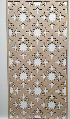 Radiator Cabinet Decorative Screening Perforated 3mm & 6mm thick MDF laser cutK2