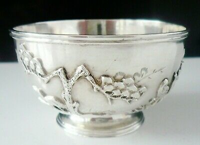 Chinese Export Silver Rose Bowl, Wang Hing & Co c.1900