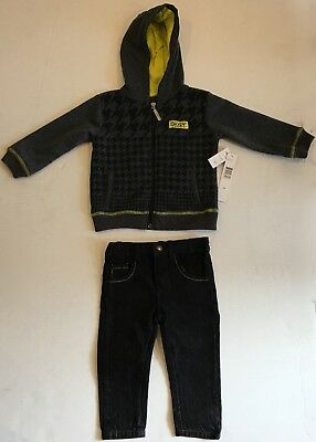 DKNY Boys hoodie and jeans set of 2 18 months NWT