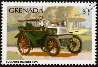 1899 Coventry DAIMLER 12HP Classic Car Stamp