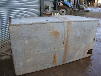Vintage Antique Large Galvanised Riveted Water Tank / Planter Up cycling