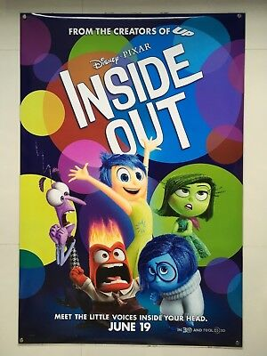 Inside Out | original DS one sheet movie poster 27x40 | Disney Pixar Advance