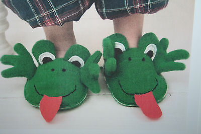 Frog Slippers Sewing Pattern