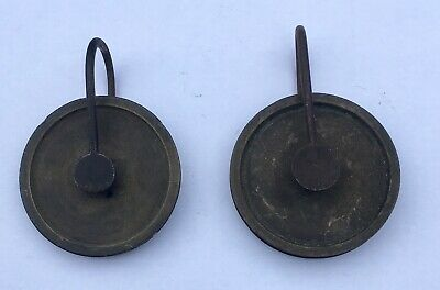 Pair Of Antique Grandfather/ Longcase Clock Pulleys
