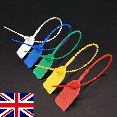 PP Plastic Security Tags Numbered Pull Ties Secure Anti-Tamper Seals 100Pack UK