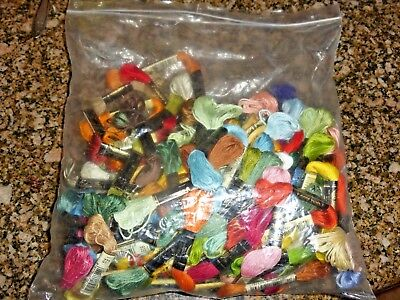 Lot of  117 skeins of DMC Mouline  cotton embroidery floss + 2 FLOSS ORGANIZERS