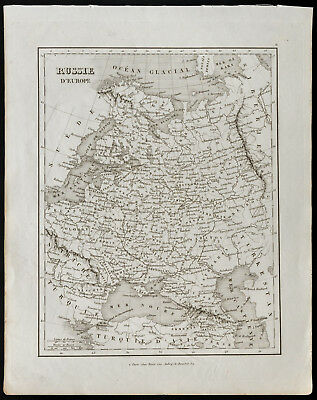 Antique Old Map of 1836c: Russia - European Cup Final Full Set ( Monin )