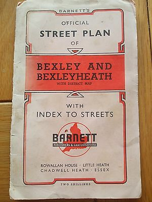 Barnett's Street Plan Bexley And Bexleyheath District Map Vintage Map London