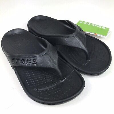 194ceb427 CROCS BAYA FLIP Flops Youth Juniors Size 2 Black Unisex Boys Girls ...