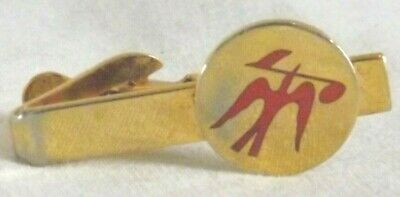 648ccde050b1 Vtg Red Dove Bird Music Note Band Musician Gold Tone Tie Clasp Clip Bar  Kinney