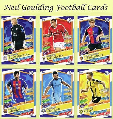 Champions League MATCH ATTAX 2016/2017 ☆ NORDIC EDITION ☆ Cards #N1 to #N16