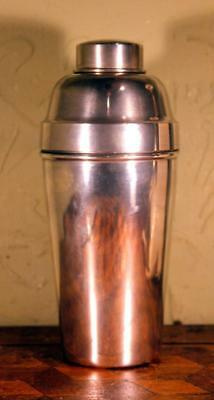 NICE Vintage Art Deco French Silver Plated Cocktail Shaker Bar Jazz Age 30s WOW!