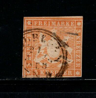 Item No. A6900 – Germany: Wurttemberg – Scott # 15 – Used