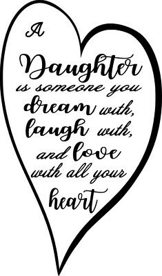 Daughter Wine Bottle Decal / Sticker (bottle not included)