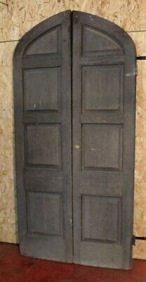 1890 Pair of Large Oak Doors with Frame
