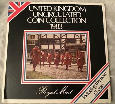 Royal Mint 1983 United Kingdom Uncirculated 8 Coin Collection Set