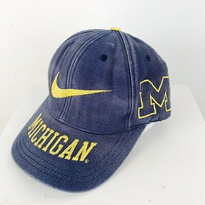 69499058d58 Vtg 90s Nike Michigan Wolverines Snapback Cap Embroidered Hat Football  Sports