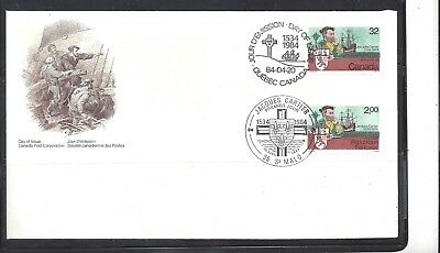 Canada JOINT FDC WITH FRANCE - JACQUES CARTIER SCOTT 1011 VF (BS12224-1)