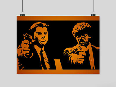 Pulp Fiction Poster A4 Size Retro Classic Film  Movie Wall Picture Print