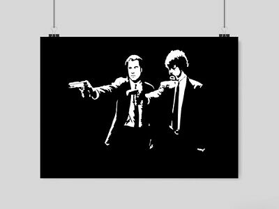 Pulp Fiction Poster A4 Size Retro Classic Film  Movie Wall  Print