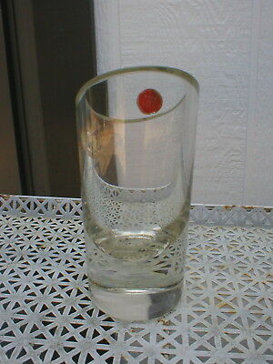 """Vintage Heavy Crystal Glass Cut Rim Flower Vase Angled Rim Made in Italy 6"""" T"""