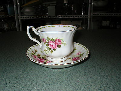 Royal Albert Flower of the Month Roses June Bone China Cup and Saucer Set