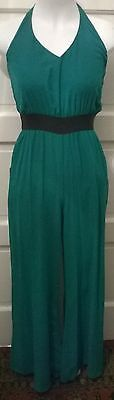 XOXO Green Sleeveless JUMPSUIT Wide Leg Women's SMALL MSRP $79 *NWT*