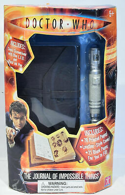 Doctor Who The Journal Of Impossible Things And Sonic Screw Driver Toy 2004 NEW