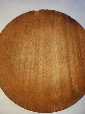Old Antique Authentic Primitive Hand Carved Wooden Treenware Round Plate#4