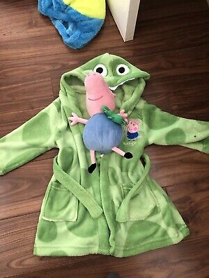 Peppa Pig george Dressing Gown And Plush! New