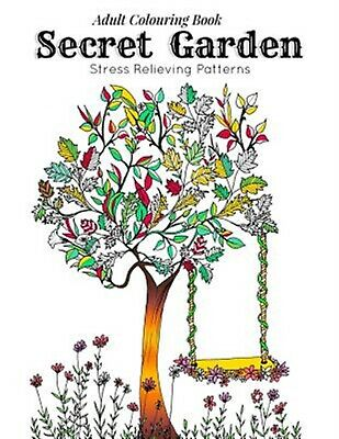 Adult Coloring Book Secret Garden Relaxation Templates for Medi by Coloring Link