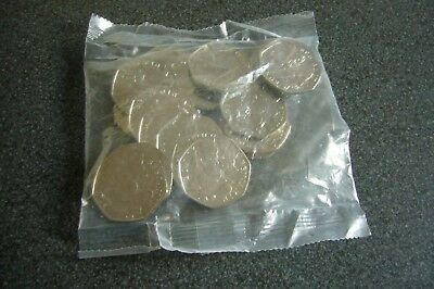 Beatrice Potter - 2017 - Benjamin Bunny - Uncirculated 50p - sealed bag 20 coins