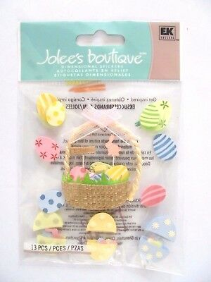 Jolees Boutique Egg Basket Easter Scrap Booking Stickers