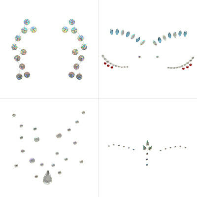 Conscientious Temporary Face Stickers Tattoo Crystal Face Gems Rhinestone Diy Face Jewels Stickers Party Body Glitter Stick Easy To Operate Body Glitter Body