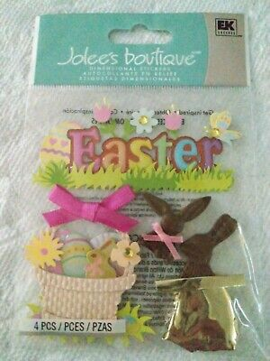 Jolees Boutique Chocolate Bunnies Easter Scrap Booking Stickers