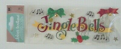 Jolees Boutique Christmas Jingle Bells Scrap Booking Stickers