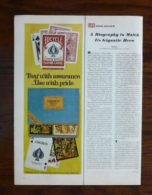 1967 BICYCLE PLAYING CARDS Print Ad Congress Playing Cards Magazine Ad (A94)