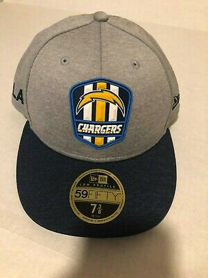 brand new f95ac f123b NFL Los Angeles Chargers New Era 2018 Sideline Road Low Profile 59FIFTY 7  3 8